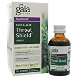 Throat Shield Sage & Aloe, Spray 1 oz by Gaia Herbs (Pack of 2)