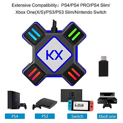 GZW-Shop Adaptateur Convertisseur de Clavier et Souris pour Console Nintendo Switch/Xbox One / PS4 / PS3