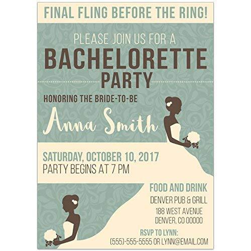 Vintage Bachelorette Party Invitations