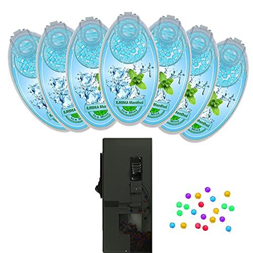 IURIMA DIY Menthol Filter | Premium Kapseln 700er Set für unvergesslichen Flavour Geschmack inkl. Box zur Aufbewahrung der aromatischen Click Hülsen Kugeln Aroma Perlen Zigaretten (Eisminze)