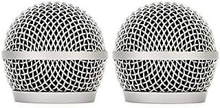Bolymic Dynamic Mic - Rejilla de repuesto para micrófono de mano Shure PGX24/PG58 PG28 2 PCAK