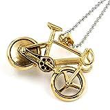 Colgante De Bicicleta De Color Oro Blanco Collar para Hombres Mujeres Colgante De Bicicleta De Acero Inoxidable Rock Sport Biker Jewelry