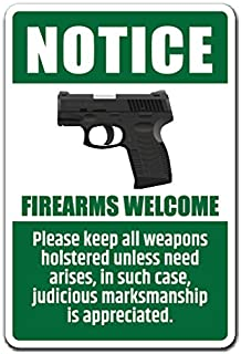Best notice firearms welcome sign Reviews