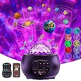 Lámpara Proyector Estrellas de Nocturna- Sirecal Océano Wave Estrellas Planetario Proyector con Temporización y...