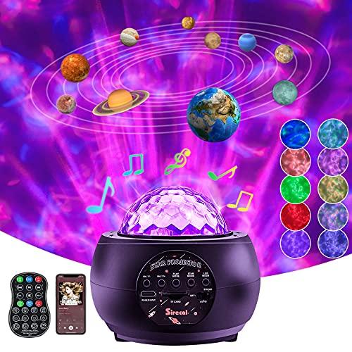 Lámpara Proyector Estrellas de Nocturna- Sirecal Océano Wave Estrellas Planetario Proyector con Temporización y Remoto Bluetooth 10 planetas para niños, adultos, decoración de dormitorio (2021)