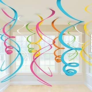 Party Propz 12 Pcs Swirls Hanging Decoration For birthday decoration, party supplies / swirl decorations / hanging swirl /...