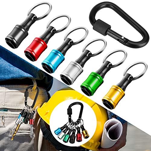 6tlg 1/4 Zoll Hex Shank Schraubendreher Bithalter, Magnetische Bohrer Verlängerung Bar Halter Adapter mit Schlüsselbund, Rutschfester Schnellwechsel Bohrerhalter Set