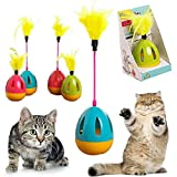 Petlicious & More Cat Toy Interactive Rolly Polly Tumbler with Feather Toy