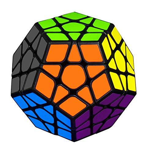 KidsPark 5x5 Megaminx Rubix Cube, 3D Puzzle Magic Cube Toys Dodecaedro Rompecabezas Juguetes educativos para niños y Adultos, Negro