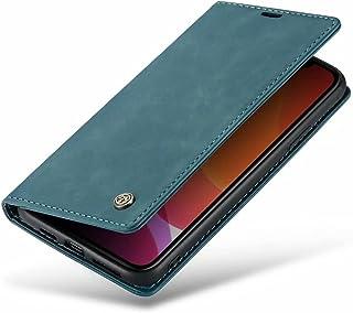 DoAo vivo Y52s t1 Case Genuine Leather Wallet Case Card Holder Shockproof Flip Cover Magnetic Flip vivo Y52s t1 cover-Dark...