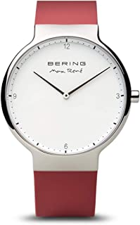 BERING Time 15540-500 Mens Max Ren? Collection Watch with Silicone Band and scratch resistant sapphire crystal. Designed in Denmark.