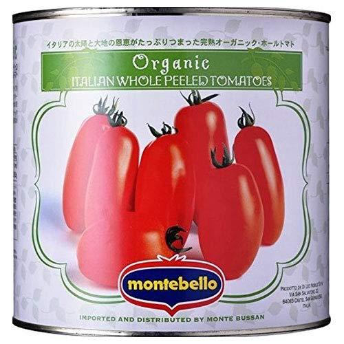 モンテ物産 モンテベッロ 有機ホールトマト 2.55kg缶×6個入