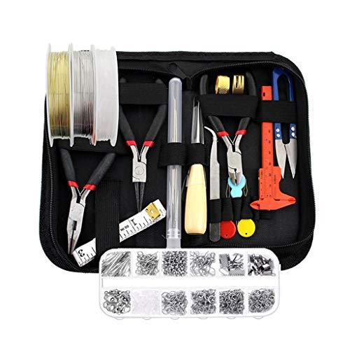 Bonarty - Estuche con herramientas para joyas y cierre de cremallera