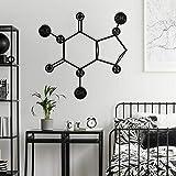 Tamengi Caffeine - Metal Wall Decor, Metal Wall Decor, Metal Wall Art, Caffeine Molecular Formula, Housewarming Wall Art, Home Decor, Wall Sign