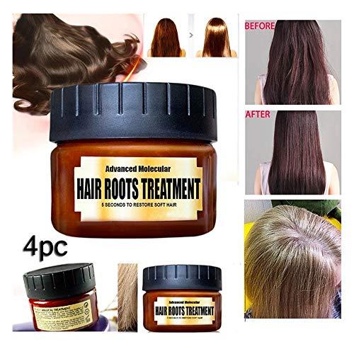 Soins et Masques Ingrédients Botaniques Réparatrice Profonde, Masque capillaire Traitement, Hair Mask, Masque cheveux secs et abimés l'huile d'argan pour Tous les Types de Cheveux (4PC 60ml)