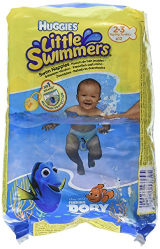 Huggies Little Swimmers Schwimmwindeln, Gr.2/3, 1er Pack (1 x 12 Windeln)