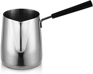 DISS 304 Pots de café en acier inoxydable, coupe longue à poignée, pointe de la bouche Filtre Cafeaux de café, café et car...