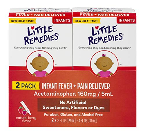 Little Remedies Infant Fever & Pain Reliever | Natural Berry Flavor | 2 FL OZ | 2 Pack