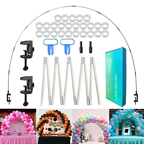 CEASELESLY arco para globos,Kit de Arco de Globo,kit de arco de globo decorativo,soporte de globo de mesa ajustable, para cumpleaños、boda、fiesta、Navidad、Halloween