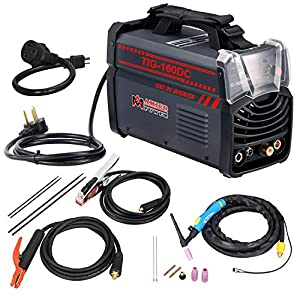 TIG 160 Amp Torch ARC Stick DC Welder 110/230V Dual Voltage Welding Machine New from AMICO POWER
