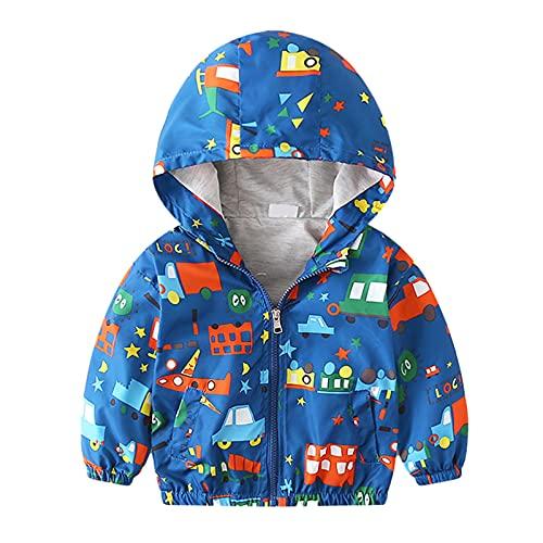 Abrigo para bebs y nias Chaquetas de invierno sin acolchado con capucha cortavientos ropa de abrigo de manga larga para nios rompevientos de 12 meses a 5 aos