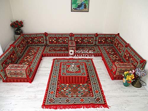 Arabic U Shaped Sofa Set,Arabic Floor Seating,Arabic Floor Sofa,Arabic Majlis,Arabic Couches,Floor S