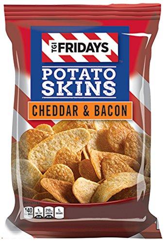 TGI Friday's 4 oz Cheddar & Bacon Potato Skins Chips (3 Bags)