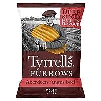 [Tyrrell's ] Tyrrellsは、アバディーンアンガスポテトチップスの50グラムを畝 - Tyrrells Furrows Aberdeen Angus Crisps 50G [並行輸入品]