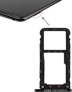 YINZHI Xiaomiに対応 Xiaomi Mi Max 3用SIMカードトレイ SIMカードアダプターの交換部品 (色 : Black)