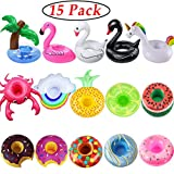 iShyan Inflatable Drink Holder, 15 Pack Drink Floats Inflatable...