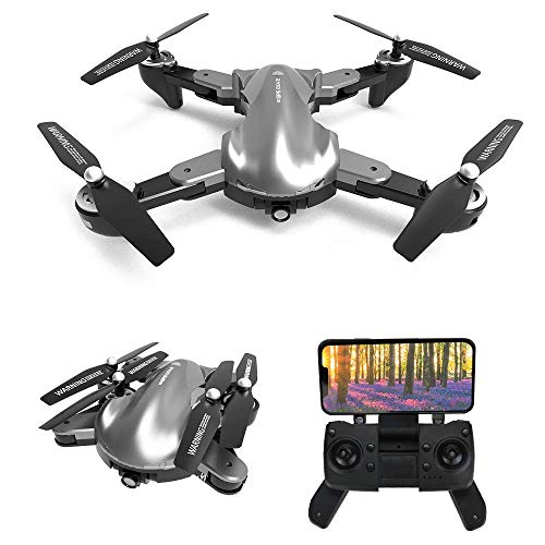 le-idea 12 - Drone GPS con Telecamera 2k, Pieghevole Mini Drone FPV WiFi 5GHz, Fotocamera 120 °FOV, GPS Return Home, Fotografia gestuale, Follow Me, modalità Senza Testa, Borsetta