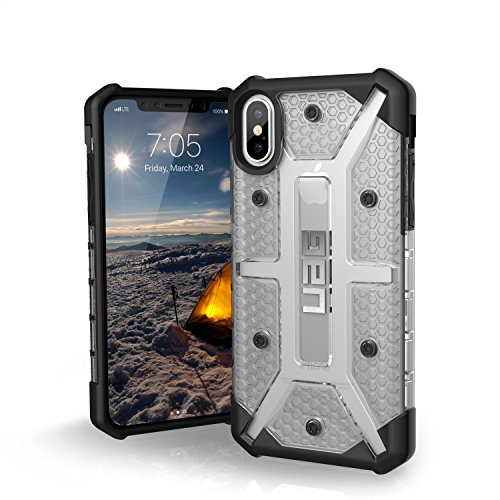 URBAN ARMOR GEAR UAG iPhone Xs/X [5.8-inch screen] Plasma Feather-Light Rugged Military Drop Tested iPhone Case, Ice