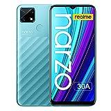 Teléfono Móvil REALME Narzo 30A Smartphone 4+64GB Batería de 6000mAh, Teléfono Móvil Dual Sim Pantalla 6.5' FHD+ Desbloqueo Facial AI Cámara Triple Android 10 - Azul