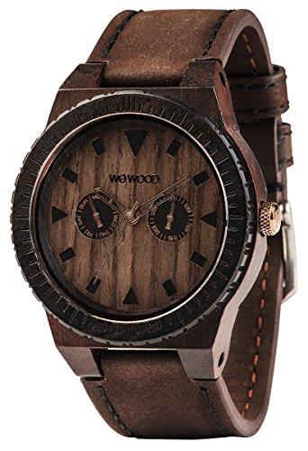 Wewood Herren Analog Quarz Smart Watch Armbanduhr mit Leder Armband WW37005