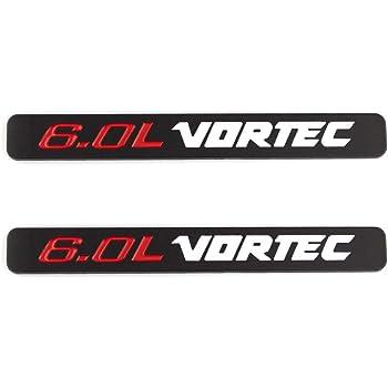 PartsTo 2PCs New 5.3L Vortec Side Fender Door Emblem for Silverado Sierra