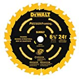 DEWALT 6-1/2-Inch Circular Saw Blade, Precision Framing, 24-Tooth (DW9199)