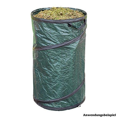 Gartentasche PopUp 45x75cm 120L selbststehend Abfallsack Gartensack Laubsack