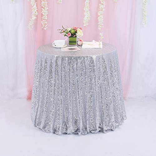 Best blush sequin tablecloth round for 2021
