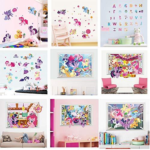 Pegatinas de pared de dibujos animados para habitaciones de niños pegatinas de pared de dormitorio de niños niñas decoración de habitación de niños regalo de cumpleaños decoración de nevera
