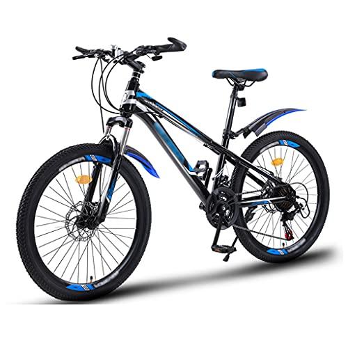 OFFA Bicicletas De Montaña para Niños De 8 A 12 Años Bicicleta 20 22 Ruedas De 24 Pulgadas Freno De Disco Doble De 21 Velocidades / 24 Velocidades Bicicleta De Montaña Amortiguadora