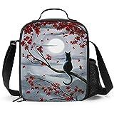 Delerain - Fiambrera para gatos, con asa y correa para el hombro, bolsa de comida para niños, niñas, niños, preescolar, oficina, picnic