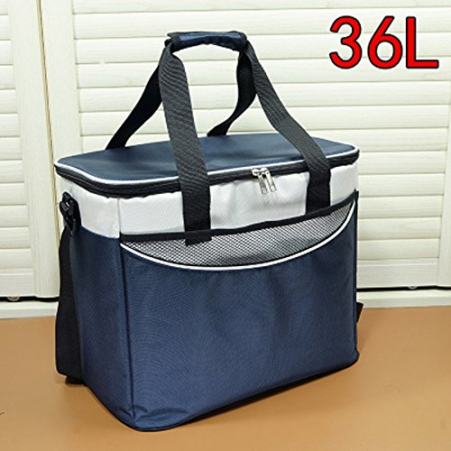 QIHANGCHEPIN 36L Viaje en coche o Picnic Ice Bag de alta capacidad Real Car Lunch Refrigerator Bag Nevera azul (Color : Marina)