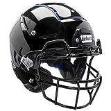 F7 Adult Football Helmet w/Attached mask (Gloss Black, XL)