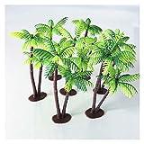 Juguete para la construcción de jardines de flores 1 set de plástico de palmera de palmera de palmeras miniatura macetas bonsai artesanía micro paisaje DIY decoración artificial coco árbol decoración