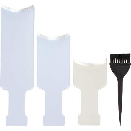 Anself 4pcs de Herramienta de Kit de Coloración del Cabello Tinte para el Cabello Pincel de Tinte Palette Art del Cabello Peine de Color Plato largo ...