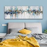 Arte de la pared de la lona arte de la pintura de la pared moderna pintura abstracta del arte de la lona para la sala de estar arte del cartel decoración del hogar pintura 50x150cm sin marco