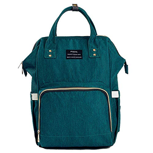 Wickeltasche Windel Rucksack Mummy Rucksack Wasserdicht Multifunktions-Mommy Tasche für Baby Care Große Kapazität STILVOLL und robust; perfekt für Arbeit oder Ausflug mit einer Wickelunterlage