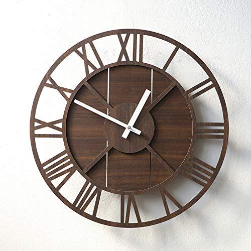 N/ A stijl retro wandklok woonkamer simpel mute charts landelijk hout gepersonaliseerde eenvoudige mode minimalistisch