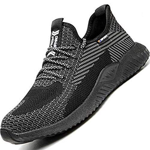SUADEEX Sicherheitsschuhe Herren Damen Arbeitsschuhe Leicht Sportlich Atmungsaktiv Schutzschuhe Stahlkappe Sneaker