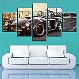 N/R Stampe su Tela Arte Muraria Idee Classiche per Auto Sportive 150x80cm Moderna Pittura a Olio su Tela Poster Stampe Wall Arte Immagini per Soggiorno Camera da Letto Home Decorazioni (Senza Telaio)
